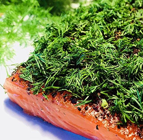 Graved Lachs (gebeizter Lachs) Nordic Arctic mit Aquavit , nordischen Gewürzen und frischem Dill 1.1kg