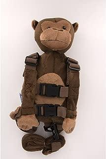 Berhapy 2 in 1 Monkey Toddler Safety Harness Backpack Children's Walking Leash Strap (Super Soft Monkey)