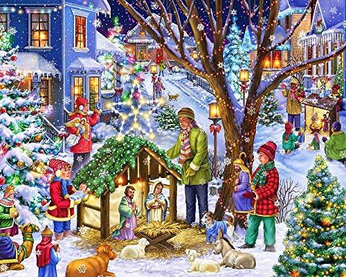 Dielay Diamond Painting Pack 50 x 40 cm | Serie Navidad |...
