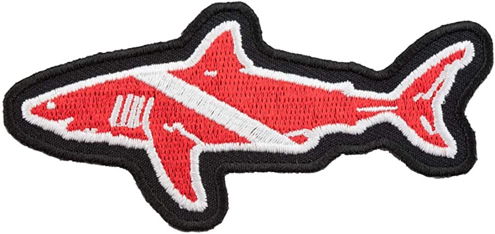 Great White Discount mail order Shark Diver Down Max 87% OFF Flag Patches Scuba Patch Diving