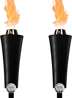 Outdoor Gas Propane Torch - 71-Inch 7,000 BTU Portable Ambient Yard Lights for Backyard Deck Lighting (2-Pack/20 LB Propane Tank)
