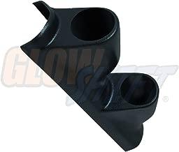 GlowShift Black Dual Pillar Gauge Pod for 1995-1998 Nissan 240SX - ABS Plastic - Mounts (2) 2-1/16