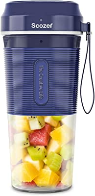 Personal Portable Blender,Cordless Personal Blender Small Juicer Cup Mixer,Mini Personal Blender for Home Outdoor Travel Office - USB Rechargeable,IP68 Waterproof,BPA Free Tritan 300ml