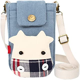 XIAO Cell phone purse, can be used as crossbody bag gift,the weight is 121 grams,Red,Dark Blue Happy day (Color : Light Blue)