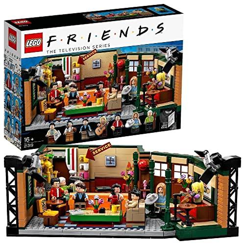 LEGO 21319 Ideas Central Perk, Cafetería de Serie Friends con Mini Figuras, Maqueta para Construir para Niños +16 Años y Adultos