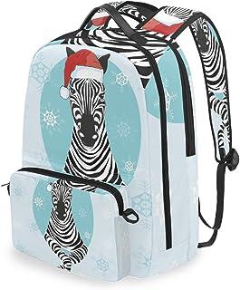 Mochila con Bolsa Cruzada Desmontable, diseño de Caballo de Cebra