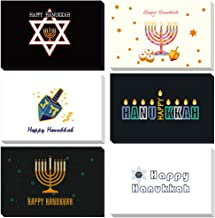 Magic Ants 48 Count Hexagram Thank You Cards Celebrate Hanukkah Greeting Cards Perfect for Jew Hanukkah - Thank You Notes Bulk Set with Envelopes and Stickers - Blank Inside 4x6