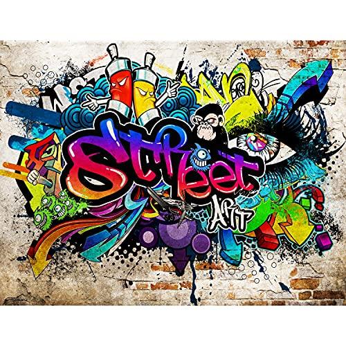 Papel tapiz fotográfico arte callejero Graffiti 352 x 250 cm Lana Fondo De Pantalla XXL Moderna Decoración De Pared Sala Cuarto Oficina Salón Vistoso 9218011b
