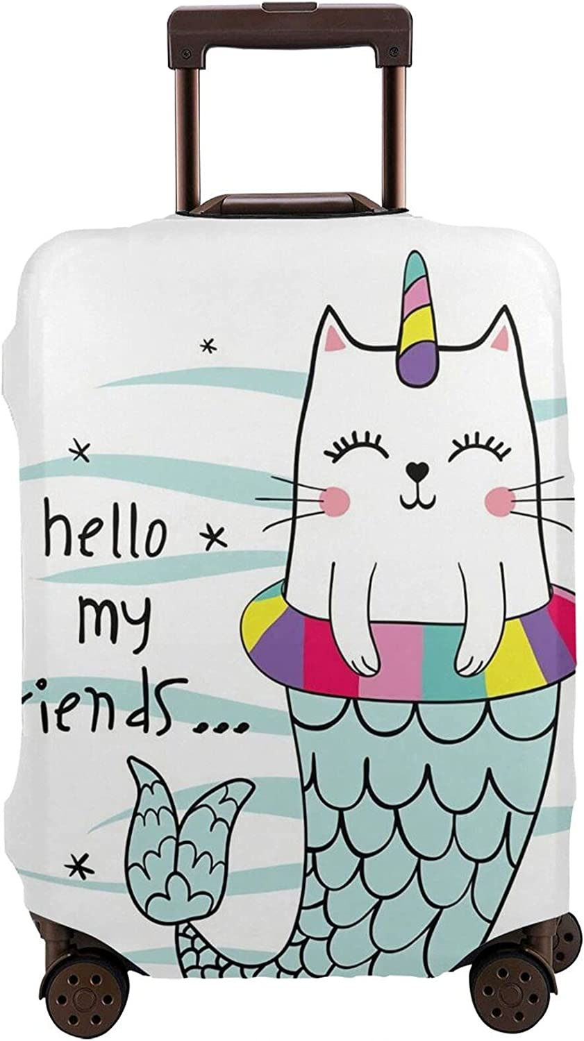 Bargain Mermaid Cat Travel Lowest price challenge Luggage Suitcase Protector Cover Personalized