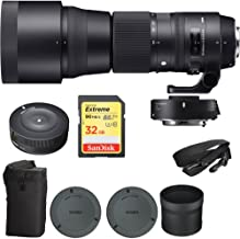 Beach Camera Sigma 150-600mm F5-6.3 Sports Lens and TC-1401 1.4X Teleconverter Kit for Canon (ZA954) with Sigma USB Dock for Canon Lens & Sandisk 32GB Extreme SD Memory Card