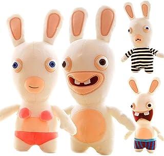 ألعاب قطيفة للبنات والأطفال دمى الأرنب المجنون الحيوانات المحشوة المضحكة ألعاب الأرنب سناك توث هدايا Makfacp (اللون : طراز...