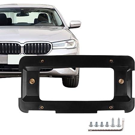 Trunknets Inc License Plate Bracket for BMW SUV Sedan Coupe Black Frame Hardware Set