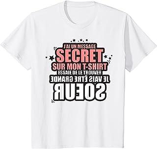 Enfant annonce grande soeur - future grande soeur - j'ai un message T-Shirt
