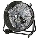 BILT HARD 24' High Velocity Drum Fan, Industrial Grade UL Listed 8100 CFM Heavy Duty 2-Speed Shop Fan for Commercial, Residential, and Garage