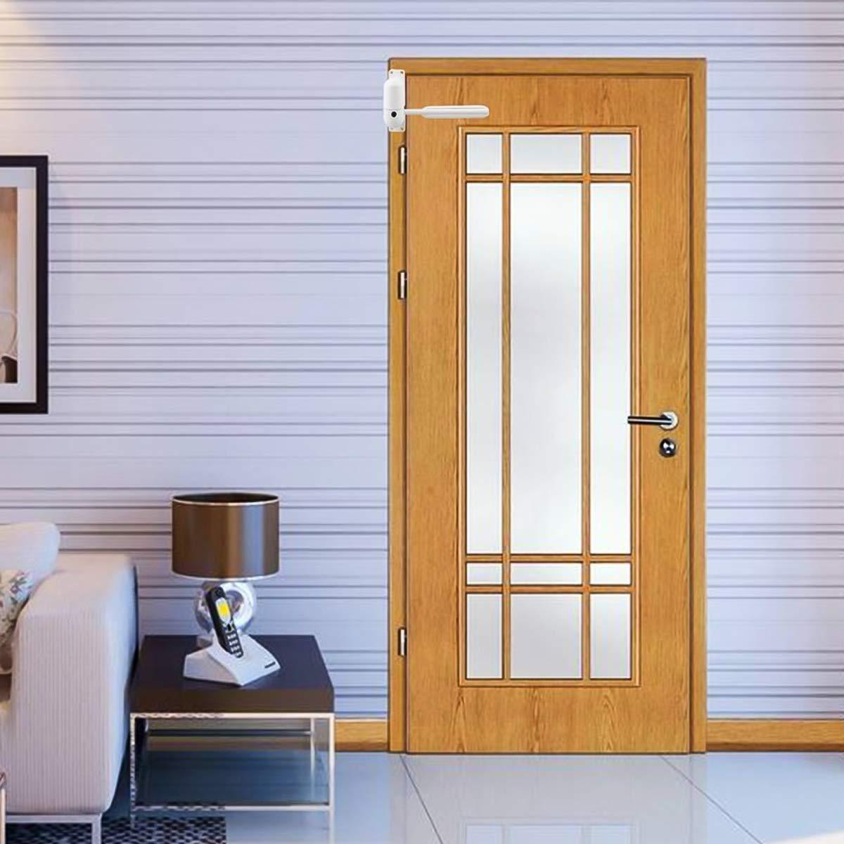 DERCLIVE cierre de puerta duradero ajustable puerta automática montada en superficie con resorte para cierre automático: Amazon.es: Bricolaje y herramientas