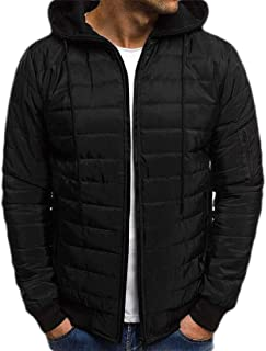 Men Lightweight Packable Puffer Down Jacket with Hooded Winter Water-Resistant Coat