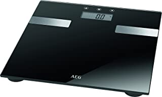 comprar comparacion AEG PW 5644 FA - Báscula de análisis corporal de 7 funciones, de cristal y acero inoxidable,LCD, Negro