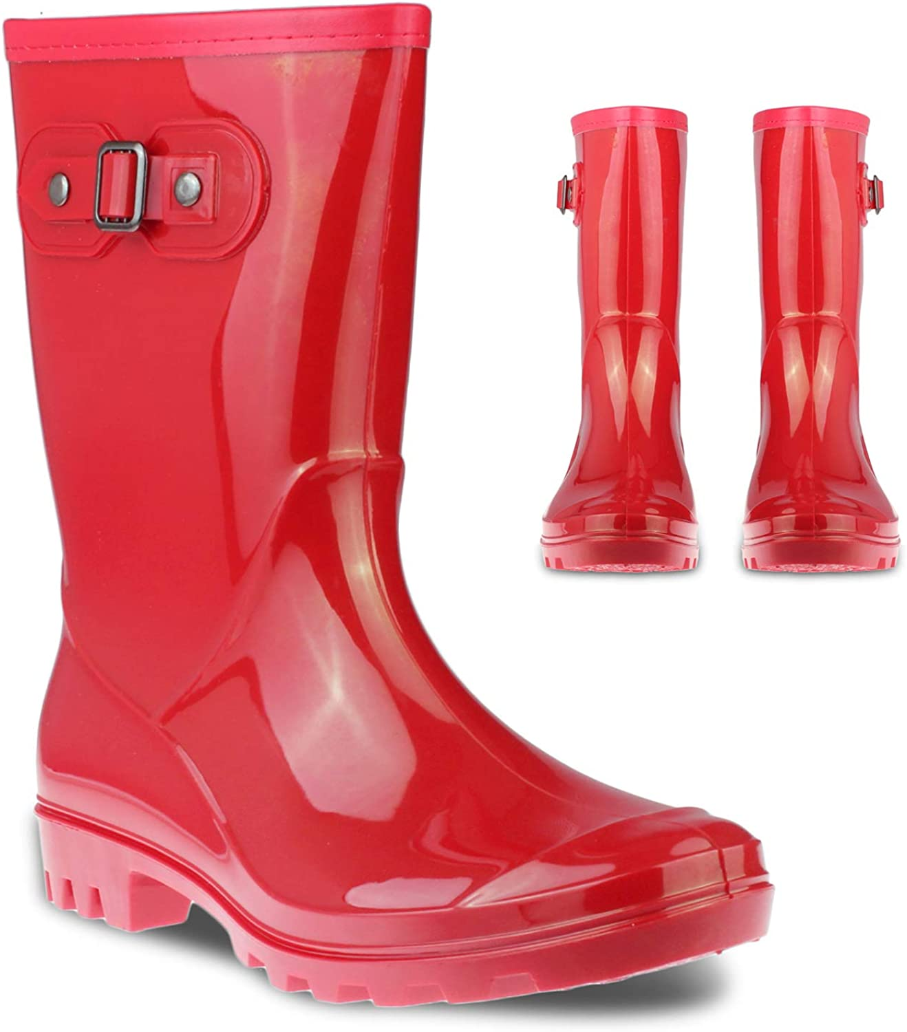 Denver Mall Twisted Women's SHANA Rubber Rain Ladies Hight Boots Mid Special Campaign