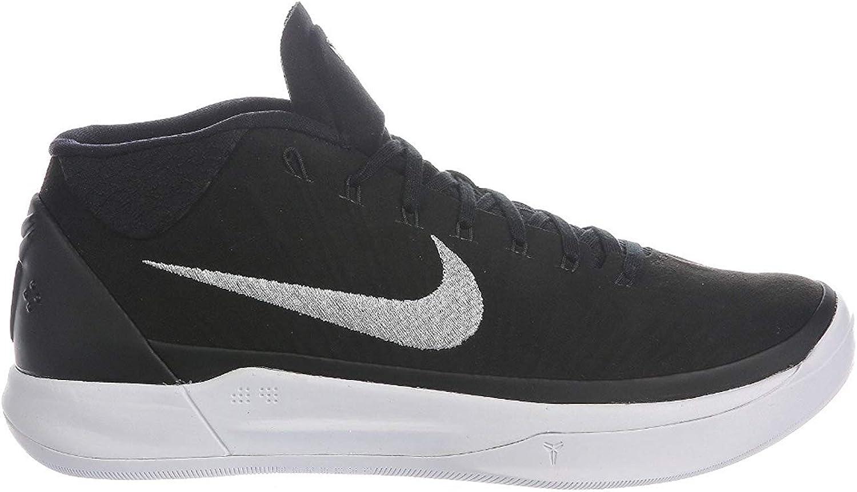 Nike Hommes's Kobe A.D. noir Metallic argent blanc Nylon Basketball chaussures 9 D(M) US