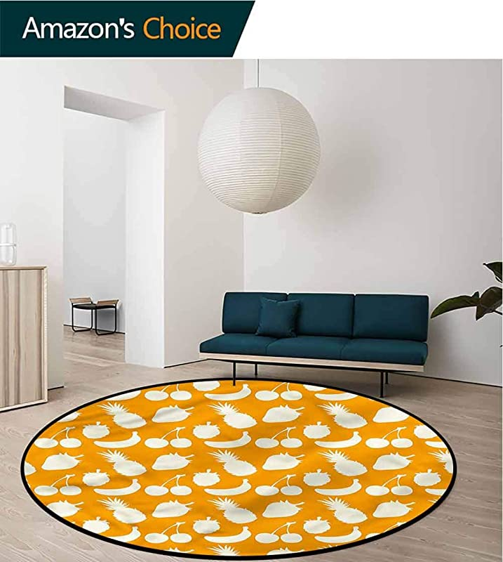 RUGSMAT Vintage Super Soft Circle Rugs For Girls Retro Silhouettes Pattern Carpet Door Pad For Bedroom Living Room Balcony Kitchen Mat Diameter 35