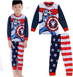 Boys Pajamas Sets Children Christmas Pants 100% Cotton Spider-Man Long Kids Snug Fit Pjs Winter Toddler Sleepwear