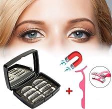 FOXTSPORT 3 Magnetic Eyelashes, 4 Pairs Fiber Full Eyes