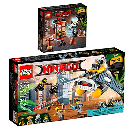 The Lego NINJAGO Movie 2er Set 70606 70609 Spinjitzu-Training + Mantarochen-Flieger
