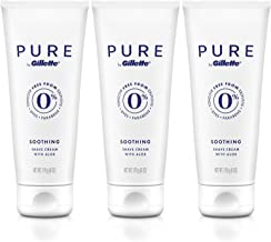 PURE by Gillette Shaving Cream for Men, 6 Ounce, Pack of 3