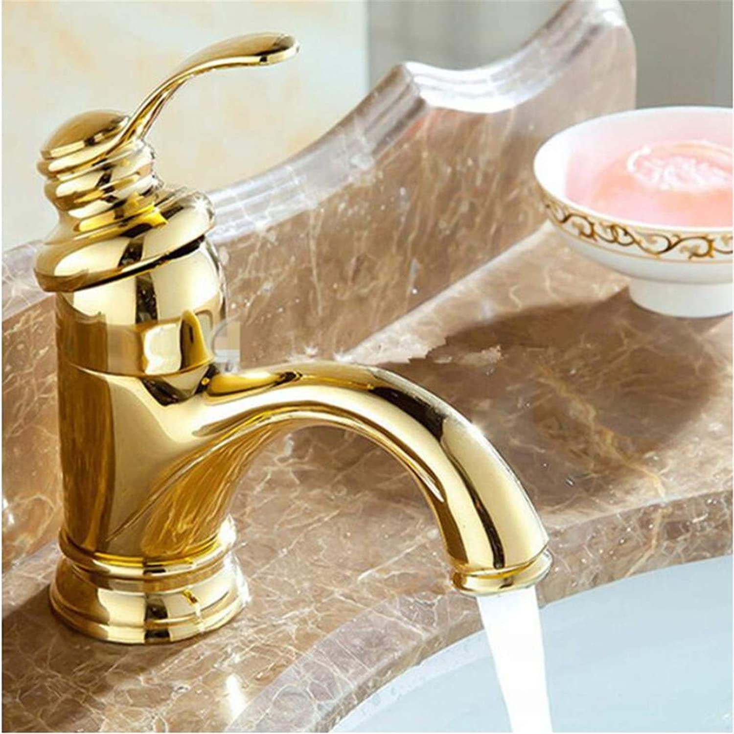 Faucets Basin Mixer golden Bathroom Basin Faucet New Luxury Single Handle Hot and Cold Tap