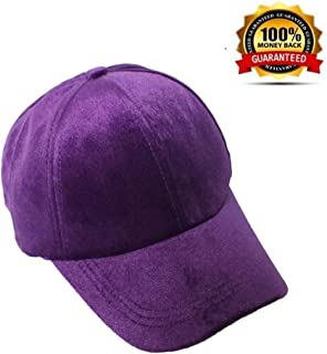93d81f2b Amazing-zone Dad Hat Baseball Caps Fashion Adjustable Strap Back Twill  Velvet Hats Multiple Colors