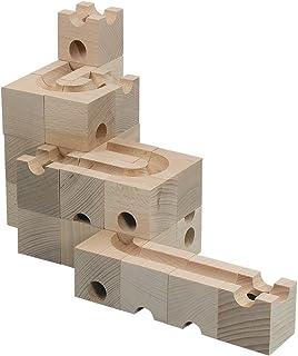HUIZorbit Basis 30個 ビー玉積み木転がし 25個鋼製ビー玉付き