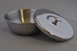 Thiers-Issard Stainless Steel Shaving Bowl with Lid, 93mm x 35mm by Thiers-Issard