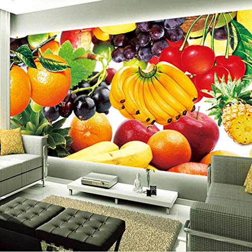 Wh-Porp Frutta Fresca 3D Foto Tapete Murales Restaurant Wohnzimmer Tv Hintergrund Muro Home Interior Decoration Art Design Murale