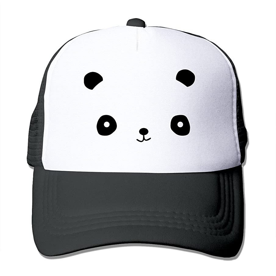 MYDT1 Unisex Happy Panda Face Classic Mesh Back Trucker Cap Hat