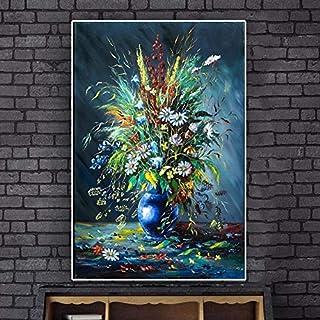 ganlanshu Peinture sans cadreDécoration de Peinture à l'huile de Fleurs sur des..