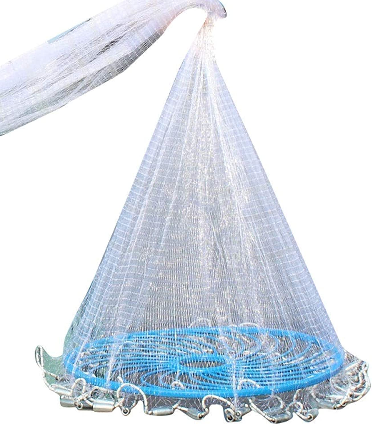 Fishing Nets Round Discs Hand Nets Throwing Autoredating Nets Outdoor Pond Baits Easy to Operate Portable Fishing Tool Multiple Sizes (Material   Galvanized Pendant, Size   Height 2.7m)