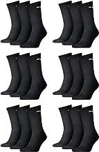 Puma Sportsokken, uniseks, klassieke kleuren, verpakt per 6 stuks (zwart, 43-46)