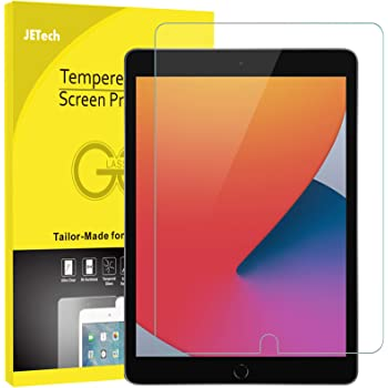 JETech Screen Protector for iPad 8/7 (10.2-Inch, 2020/2019 Model, 8th / 7th Generation), Tempered Glass Film