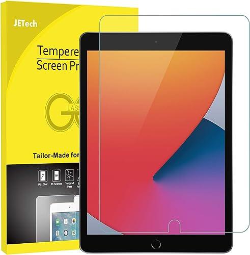 JETech Protector de Pantalla Compatible con iPad 8/7 (10,2 Pulgadas, 2020/2019 Modelo, 8ª / 7ª Generación), Vidrio Te...