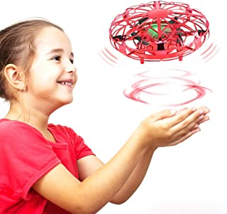 Delicacy Hand Operated Drone for Kids, Hands Free Mini Drones Helicopter with 2 Speed,360° Rotating Flying Ball Drone for ...