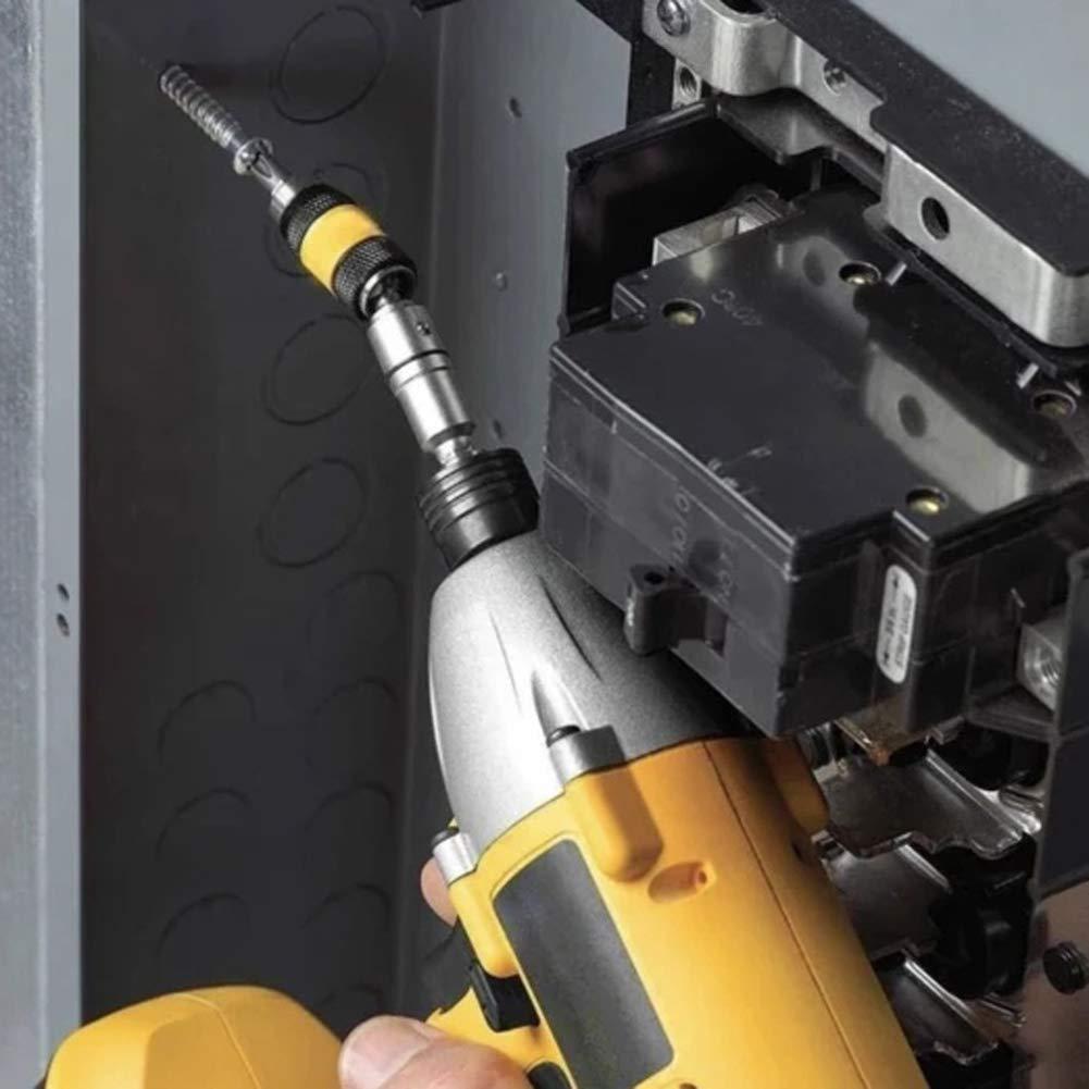 Yiying Pivoting Bit Tip Holder Magnetic Screw Drill Tip Swivel Hex Bit Holder with Locking Pivot 1//4 Black