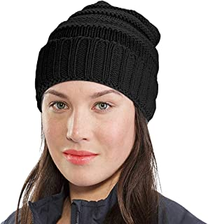 Roadbox Trendy Warm Chunky Soft Stretch Cable Knit Beanie Skully for Women & Men