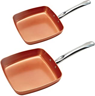 Copper Chef KC16078-02000 Fry Pan 8 and 9.5 Inch (2 Pack), 8 & 9.5