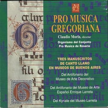 Tres Manuscritos de Canto Llano en Museos de Buenos Aires