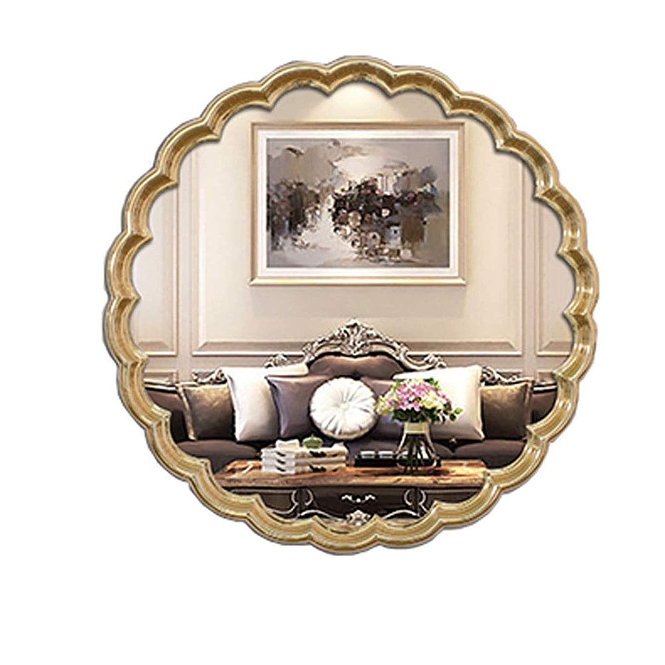 ペイン契約した運搬バスルームミラーヨーロッパの壁掛けドレッシングリビングルームベッドルームホテルロビー装飾(色:金)