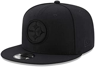 83132a265ee7d FREE Shipping on eligible orders. New Era Pittsburgh Steelers Hat NFL Black  on Black 9FIFTY Snapback Adjustable Cap Adult One Size