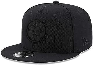 New Era Pittsburgh Steelers Hat NFL Black on Black 9FIFTY Snapback Adjustable Cap Adult One Size