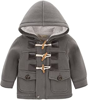 LadayPoa Fashion Winter Children Kids Baby Boys Infant Outerwear Coat Baby Kids Boys Jacket Coat 2-6Years Grey