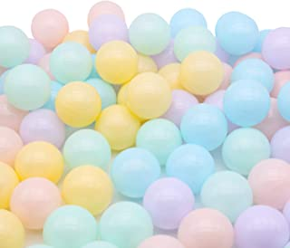 TRENDBOX 100 Ball - Macaron Colors Pit Balls Non-Toxic Free BPA Soft Plastic Balls for Ball Pit Play Tent Baby Playhouse Pool Birthday Party Decoration
