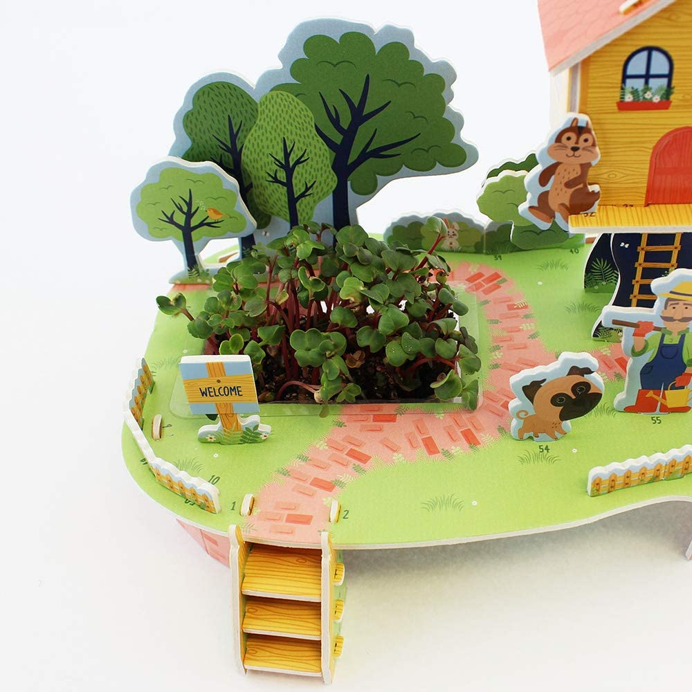 MILLY/&FLYNN 0132.3135.71.TRH.OSZ Puzzle and Grow-Build Your Own 3D Treehouse and Garden Kit